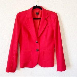 J. Crew Cherry Red Wool Blend Tailored Blazer